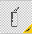 Black line detonate dynamite bomb stick and timer