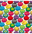 Bottle caps seamless background pattern vector image