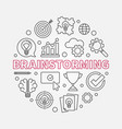 brainstorming creative round outline vector image