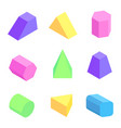 bright geometric figures set vector image