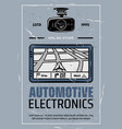 car electronics online store retro poster vector image