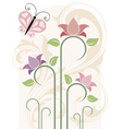 card with flowers illustration in vector vector image