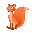 Cartoon fox vector image vector image