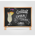 chalk drawings cocktail vector image vector image
