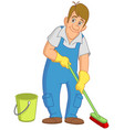 cleaner man vector image