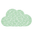 cloud collage of ecology texts vector image vector image