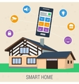 Concept smart house with control panel vector image