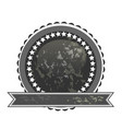dark label seal icon vector image