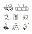 delivery and logistic icons set vector image