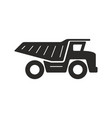 dump truck icon vector image vector image
