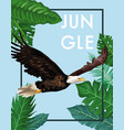 eagle in the jungle vector image vector image