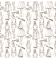 Fashion pattern Trendy look girls vector image vector image