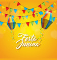 festa junina with party flags and vector image