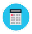 flat calculator icon vector image vector image