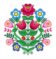 floral cute pattern from poland folk art vector image vector image