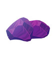 gems in deep purple color treasure collection vector image