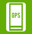 global positioning system icon green vector image vector image