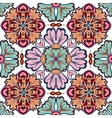 Gorgeous seamless patchwork pattern from dark blue vector image
