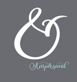 hand lettered flourish ampersands great vector image vector image