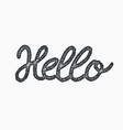 hello word calligraphy design stamp style vector image
