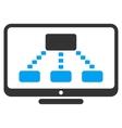 Hierarchy Monitoring Icon vector image vector image