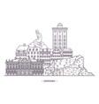 historical monuments denmark vector image