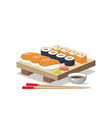 icon set sushi menu vector image