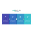 infographic label template with icons 4 vector image vector image