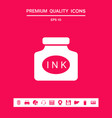 ink bottle icon graphic elements for your design vector image