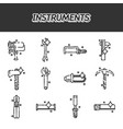 instruments flat icons set vector image vector image