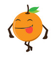 isolated happy apple emote vector image vector image