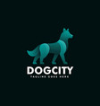 logo dog gradient colorful style vector image vector image