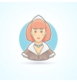 Maid waitress servant icon Avatar and person vector image vector image