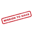 Mission To Mars Text Rubber Stamp vector image vector image