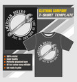 mock up clothing company t-shirt templatewrench vector image vector image