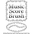 music score brush vector image