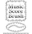 music score brush vector image vector image
