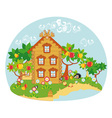 nature house vector image vector image