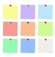 Nine sticky notes vector image vector image