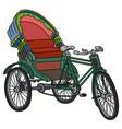 old green cycle rickshaw