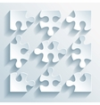 Paper puzzles for business and infographics vector image