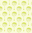 pattern green flowers vector image vector image