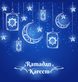 ramadan kareem blue background design vector image vector image