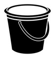 round bucket icon simple style vector image vector image