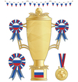 russia football trophy vector image vector image