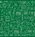school board back to school pattern with school vector image