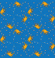 seamless cats pattern vector image vector image
