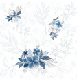 seamless pattern with blue bouquet flower