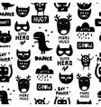 seamless scandinavian pattern in black and white vector image vector image