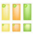 Set of Four Leaf Clovers Banner vector image
